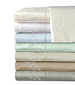 Veratex® Supreme Sateen 300-Thread Count Egyptian Cotton Scroll Sheet Sets