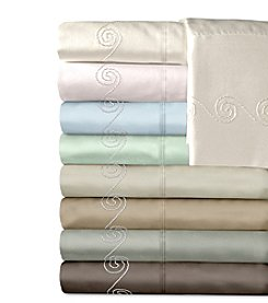 Veratex® Supreme Sateen 500-Thread Count Egyptian Cotton Swirl Sheet Sets
