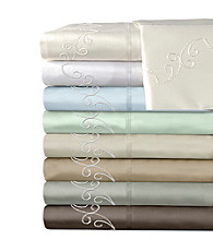 Veratex® Supreme Sateen 500-Thread Count Egyptian Cotton Scroll Sheet Sets