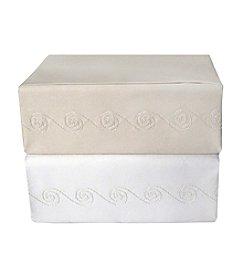 Veratex® Supreme Sateen 1200-Thread Count Egyptian Cotton Swirl Sheet Sets