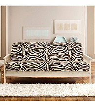 Sure Fit® Full Velvet Zebra Futon Mattress Slipcover