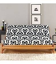Sure Fit® Ikat Full Black and White Futon Cover