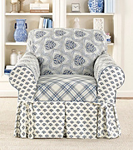 Sure Fit® Amelie 1-pc. Blue Chair Slipcover