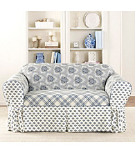 Sure Fit® Amellie 1-pc. Blue Loveseat & Sofa Slipcover