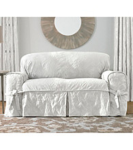 Sure Fit® Matelasse Damask 1-pc Loveseat & Sofa Slipcover