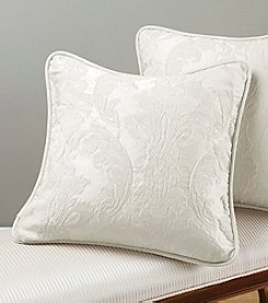 Sure Fit® 18' Matelasse Damask White Pillow