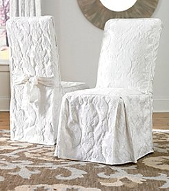 Sure Fit® Matelasse Damask Dining Room Chair Slipcover
