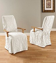 Sure Fit® Matelasse Damaks Dining Room Chair Slipcover
