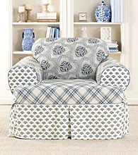 Sure Fit® Amelie Blue 1-pc. T-Chair Slipcover