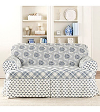 Sure Fit® Amelie Blue 1-pc. T-Loveseat & Sofa Slipcover