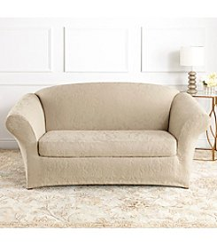 Sure Fit® Stretch Jacquard Damask 2-pc. Loveseat & Sofa Slipcover