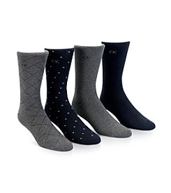 Calvin Klein Men's 4-Pack Dress Socks