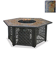 UniFlame® Earthtone LP Gas Firebowl with Slate Tile Mantel