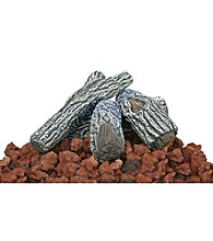 UniFlame® Lava Rock & Log Kit for Outdoor Firepits