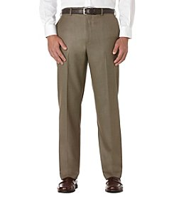 Savane® Men's Straight Fit Flat Front Sharkskin Dress Pants