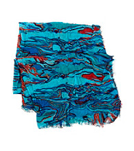 sakroots™ by The Sak® Artist Circle Oblong Wrap Scarf - Water Nation Wave
