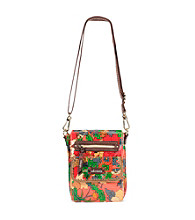 sakroots™ by The Sak® Artist Circle Small Flap Messenger Orange Flower Power