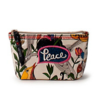 sakroots™ by The Sak® Artist Circle Cosmetic Bag White Peace Print