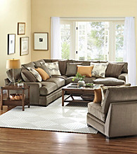 HM Richards Zibo Microfiber Muilti-Piece Sectional with Accent Pillows