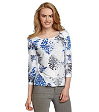 Laura Ashley® Ikat Print Tee