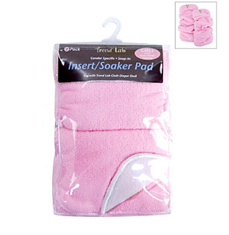 Trend Lab Girls' Baby Pink Cloth Diaper Liners