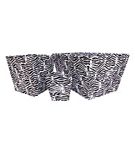 Trend Lab Black and White Zebra 3-Piece Bin Set