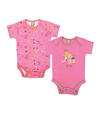 Trend Lab 0-3 Month Sherbet Elephant 2 Pack Bodysuits