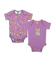 Trend Lab 0-3 Month Jelly Bean Owl 2 Pack Bodysuits