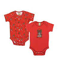 Trend Lab 0-3 Month Chocolate Kiss Bear 2 Pack Bodysuits