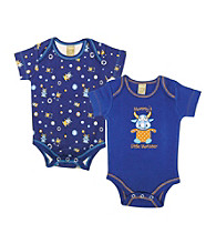 Trend Lab 0-3 Month Dreamsicle Monster 2 Pack Bodysuits