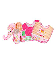 Trend Lab Sherbet Elephant Bib and Buddy Set
