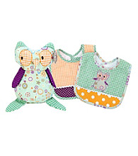 Trend Lab Jelly Bean Owl Bib and Buddy Set