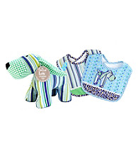 Trend Lab Apple Berry Puppy Bib and Buddy Set