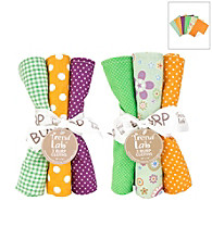 Trend Lab Jelly Bean 6 Piece Burp Cloth Set