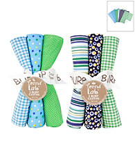 Trend Lab Apple Berry 6 Piece Burp Cloth Set
