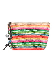 The Sak® Beach Stripe Cosmetic Classic Crochet