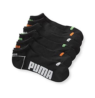 PUMA® Men's Black Low-Cut Sock 6-Pack