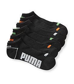 PUMA® Men's 6-Pack Black Low-Cut Socks