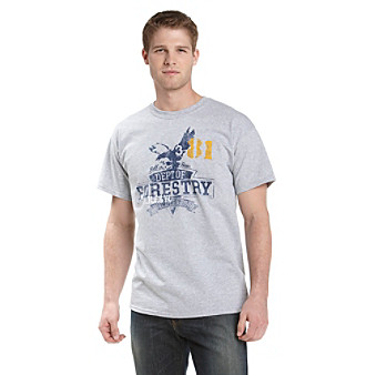 "Ruff Hewn Men's Gray Heather ""Forestry Eagle"" Graphic Tee"