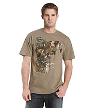 Ruff Hewn Men's Prairie Dust Camo Bass Graphic Tee