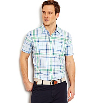 Nautica® Men's Plaid Buttondown Woven Shirt