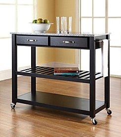 Crosley Furniture Kitchen Cart with Optional Stool Storage