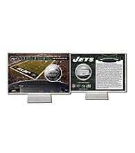 Officially Licensed NFL® New Meadowlands (Jet) Stadium Silver Coin Card