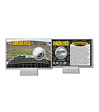 Officially Licensed NFL® Lambeau Field Silver Coin Card