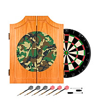 Trademark Global Hunt Camo Wooden Dart Cabinet Set