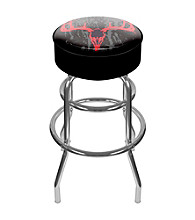 Trademark Global Hunting Skull Padded Swivel Bar Stool