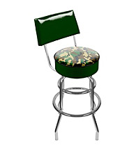 Trademark Global Hunting Camo Padded Swivel Bar Stool with Back