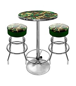Trademark Global Hunt Camo Game Room Table & Bar Stool Set