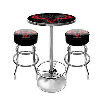 Trademark Global Hunt Skull Game Room Table & Bar Stool Set