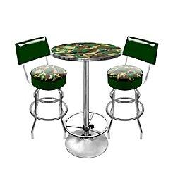 Trademark Global Hunt Camo Game Room Table & Bar Stool Set